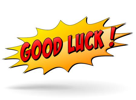 Illustration for Vector illustration of good luck starburst icon on white background - Royalty Free Image