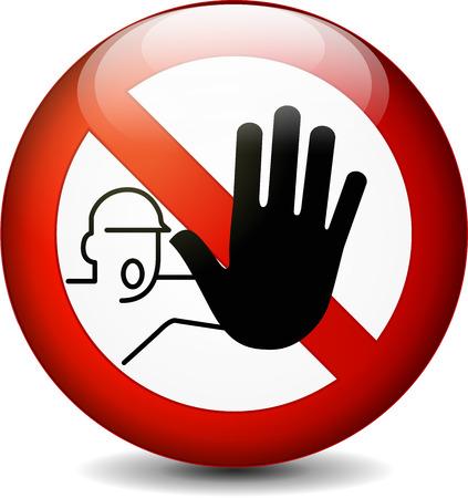 Illustration pour Illustration of no entry round sign on white background - image libre de droit