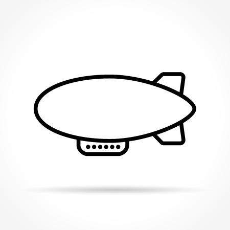 Illustration pour Illustration of airship icon on white background - image libre de droit