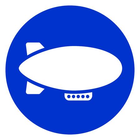 Illustration pour Illustration of airship blue circle icon. - image libre de droit