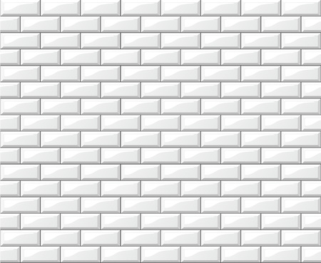 Illustration pour Illustration of white tiles wall background design - image libre de droit