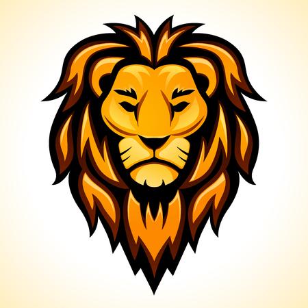 Ilustración de Vector lion head design on white background - Imagen libre de derechos