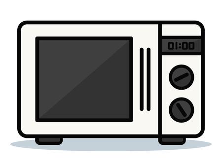 Ilustración de Vector illustration of oven on white background - Imagen libre de derechos