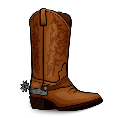 Ilustración de Vector illustration of cowboy boot brown design - Imagen libre de derechos