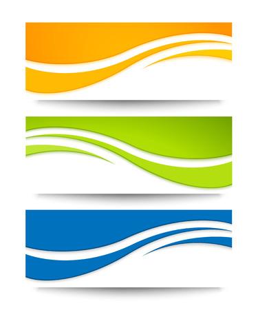 Illustration pour Set of vector banners for your design. - image libre de droit