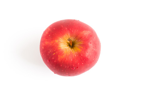 Photo for top view red apple on white background - Royalty Free Image