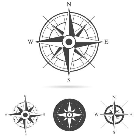 Ilustración de Collection of compass rose design - Vector illustration - Imagen libre de derechos