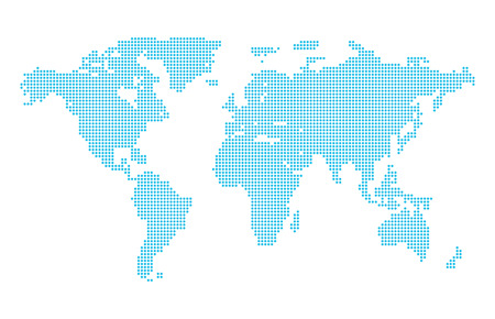 Photo for Abstract computer graphic dotted world map. Vector illustration. - Royalty Free Image