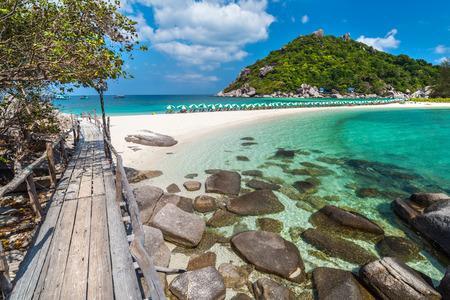 Foto de View of Nang Yuan island of Koh Tao island Thailand - Imagen libre de derechos