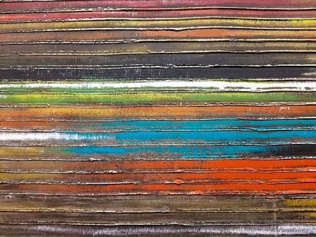Foto de close up of horizontal stripe abstract pattern - Imagen libre de derechos