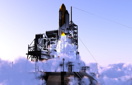 Launch a spacecraft into space.