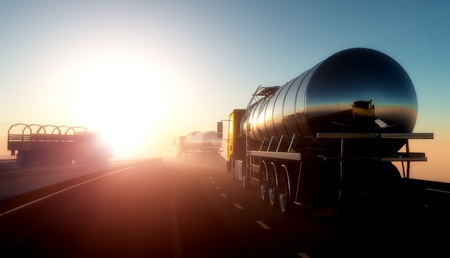 Photo pour Truck to transport fuel. - image libre de droit