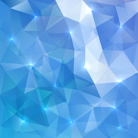 Illustration for Blue abstract vector shining ice background - Royalty Free Image