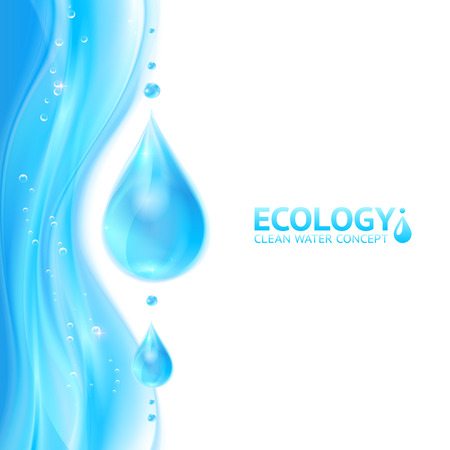 Illustration pour Water drops vector ecology background - image libre de droit