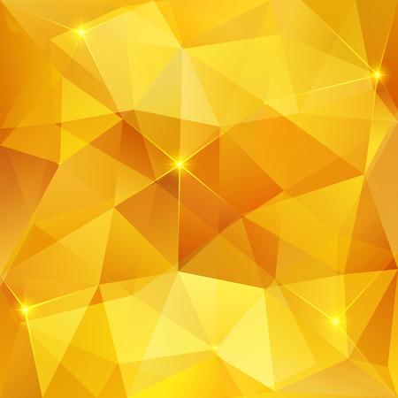 Ilustración de Honey shining crystal vector abstract triangles pattern - Imagen libre de derechos