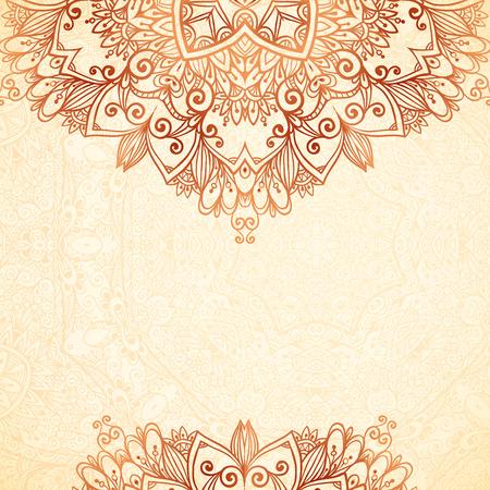 Illustration for Ornate vintage background in mehndi style - Royalty Free Image