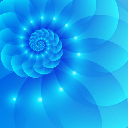 Illustration pour Blue spiral abstract background - image libre de droit
