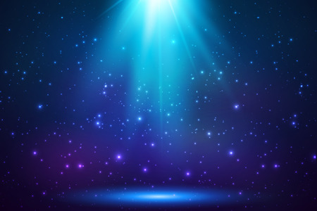 Ilustración de Blue shining top magic light background - Imagen libre de derechos
