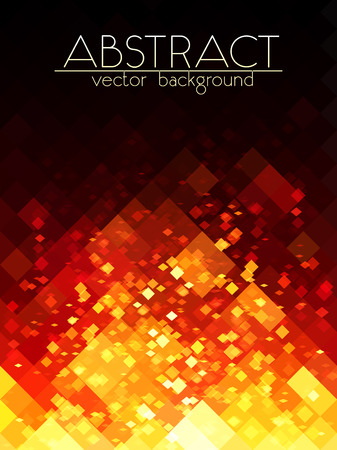 Illustration for Bright orange fire grid abstract vertical background - Royalty Free Image
