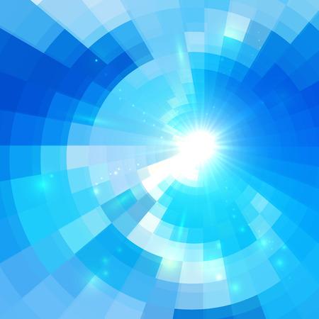 Photo pour Abstract blue vector circle technology mosaic background - image libre de droit