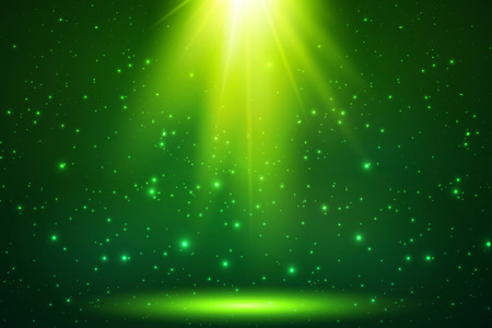Illustration pour Green magic top light vector horizontal background - image libre de droit