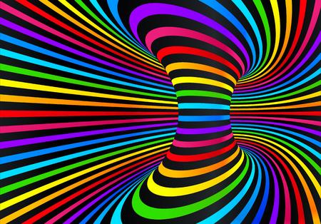 Illustration pour Dark neon rainbow colors vector abstract disco background - image libre de droit