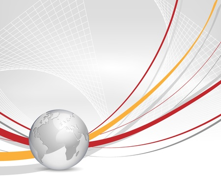 Abstract business background with globe and lines