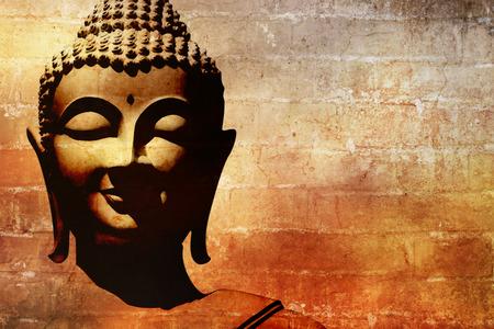 Foto de Buddha face background - Imagen libre de derechos