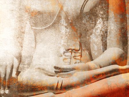 Foto de Buddha statue close up in light grunge style - Imagen libre de derechos
