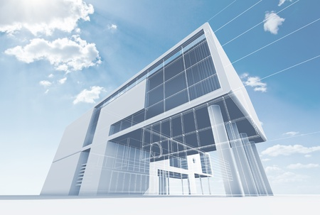 Foto de Office architecture  High quality 3d render - Imagen libre de derechos