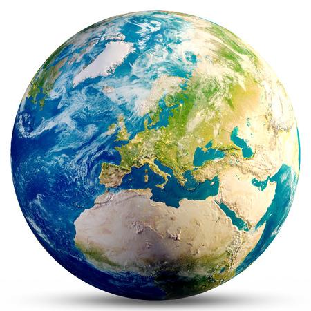 Photo pour Planet Earth - Europe. - image libre de droit