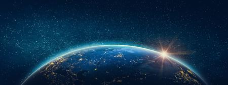 Photo pour Planet Earth - view of Russia. 3D Rendering. - image libre de droit