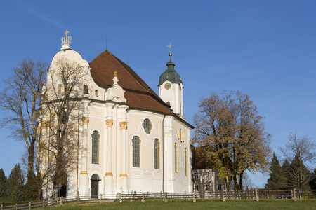 Foto de Pilgrimage Church Wieskirche in Pfaffenwinkel in Bavaria, Germany - Imagen libre de derechos