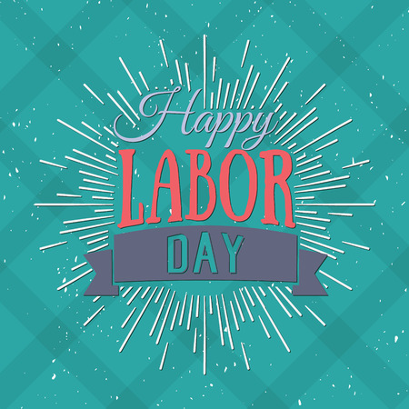 Illustration pour Vector Illustration Labor Day a national holiday of the United States. American Happy Labor Day design poster. - image libre de droit