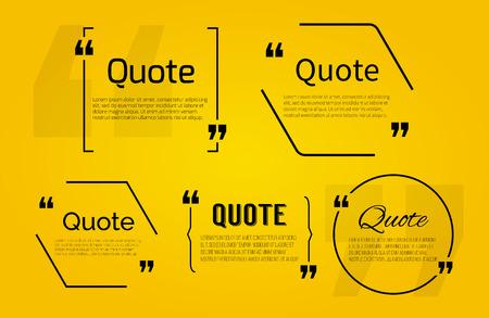 Illustration pour Quote blank with text bubble with Commas. Vector template for note,message, comment. Dialog box. - image libre de droit
