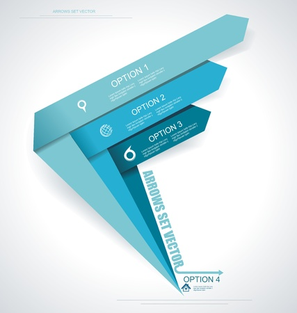 Illustration pour Set vector arrows. Minimal infographics. - image libre de droit