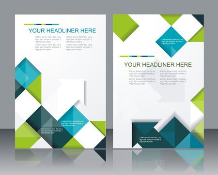 Ilustración de Vector  brochure template design with cubes and arrows elements. - Imagen libre de derechos