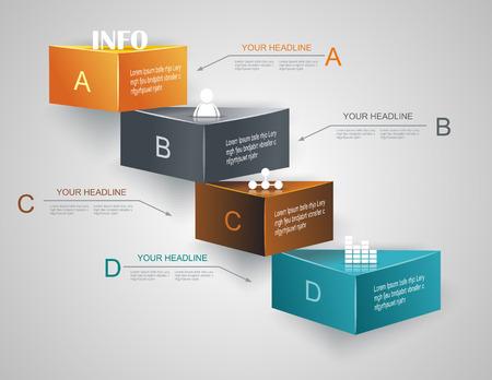 Ilustración de Step by step infographics illustration. levels of your data - Imagen libre de derechos