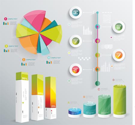 Illustration pour Modern infographics set  Diagram and Time Line design  Vector  - image libre de droit