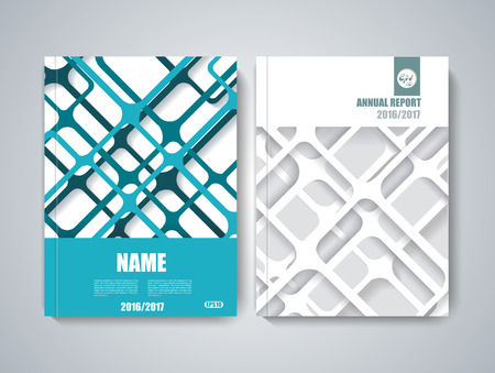 Ilustración de Brochure title sheet, polygonal stripe construction, spider web weave design. - Imagen libre de derechos