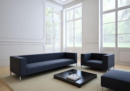Photo pour sofa of tissue in a modern living room - image libre de droit