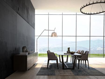 Foto de Modern Design White Dining Room  Interior Architecture - Imagen libre de derechos