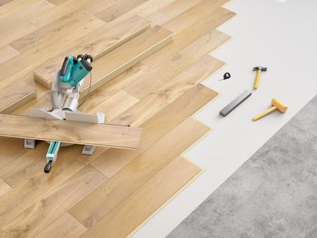 Photo pour a costly modernization of an apartment. 3d rendering - image libre de droit
