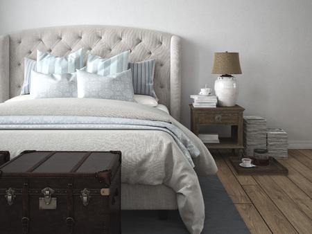 Photo pour 3d rendering. a luxury modern style bedroom. - image libre de droit