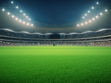 Photo pour stadium with fans the night before the match - image libre de droit