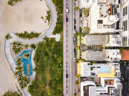 Photo for Top view of Ocean Drive. South Beach Miami - Royalty Free Image