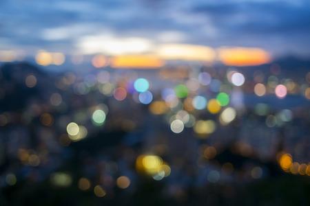 Photo pour Bokeh city background - image libre de droit