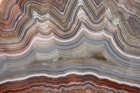 The polished cut of agate mural