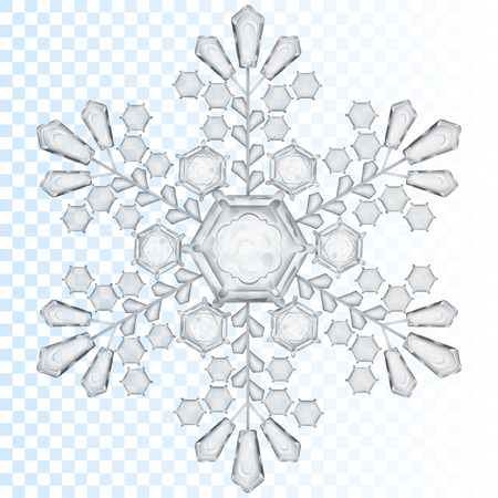 Illustration pour Big transparent snowflake in gray color. Transparency only in vector file - image libre de droit