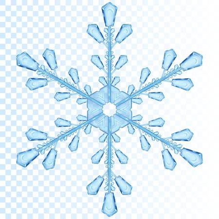Illustration pour Big transparent snowflake in blue color. Transparency only in vector file - image libre de droit